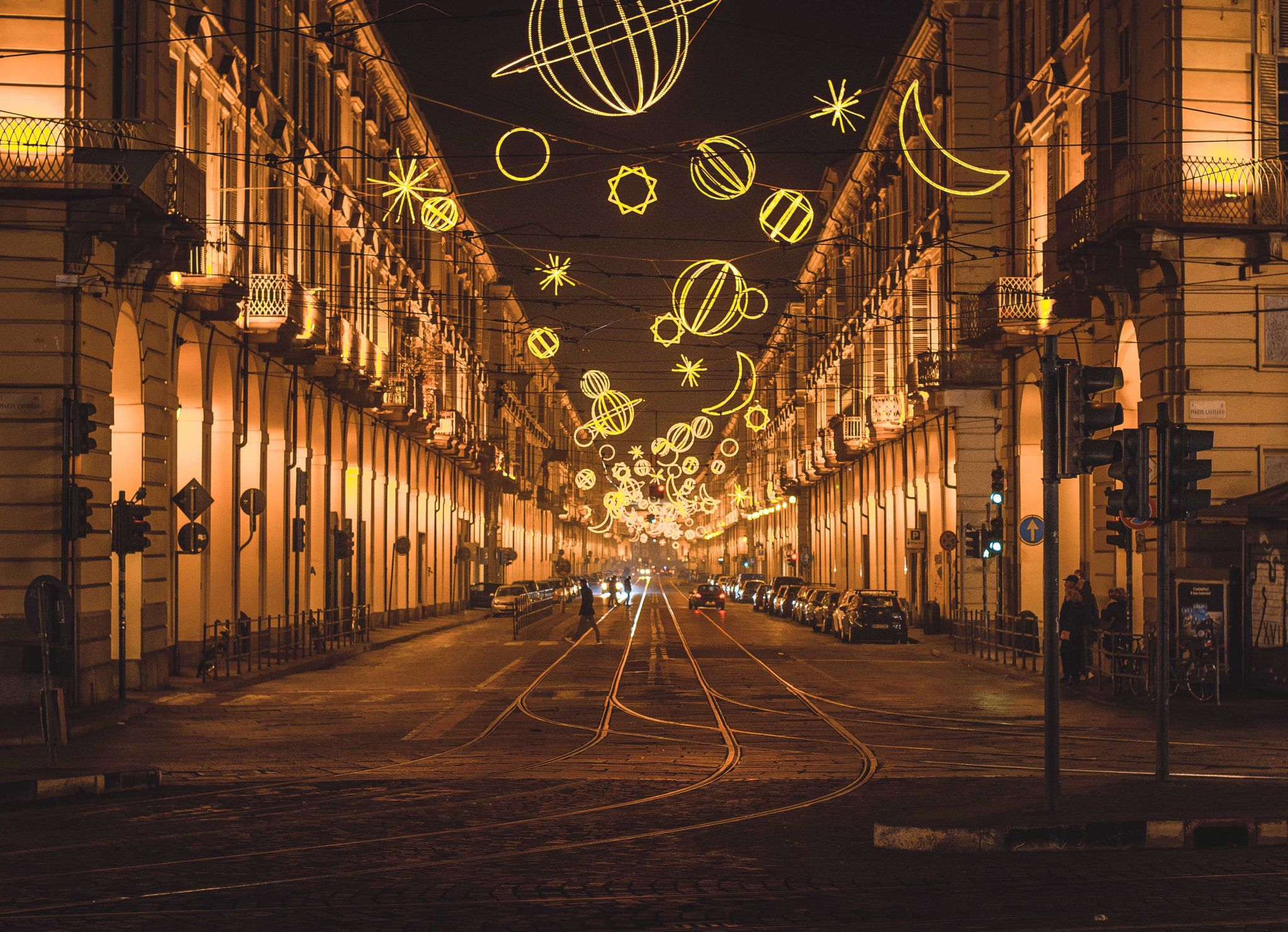 Christmas In Italy Decorations.Christmas Decorations 2016 Via Po Italy