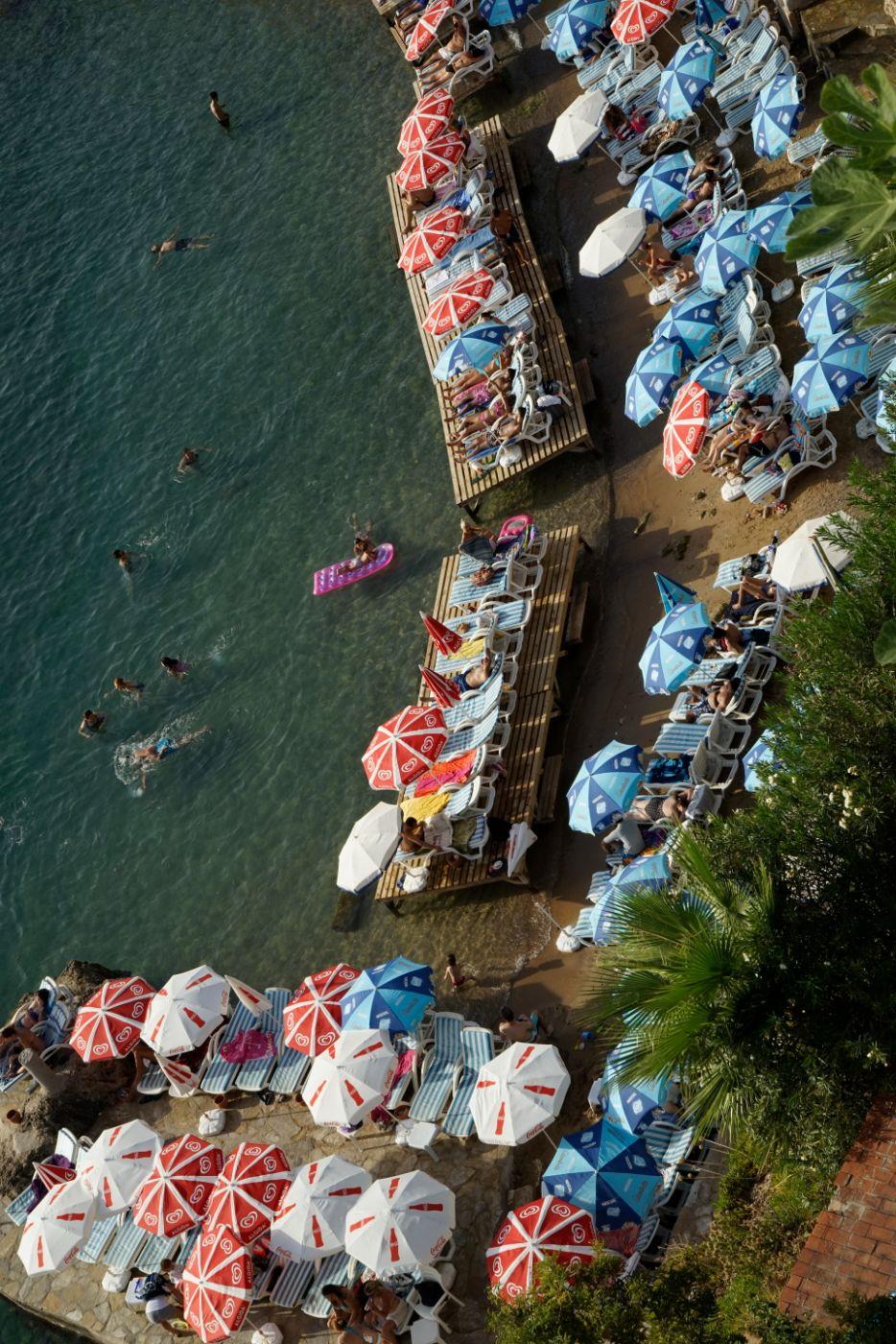 Crowded beach, Turkey