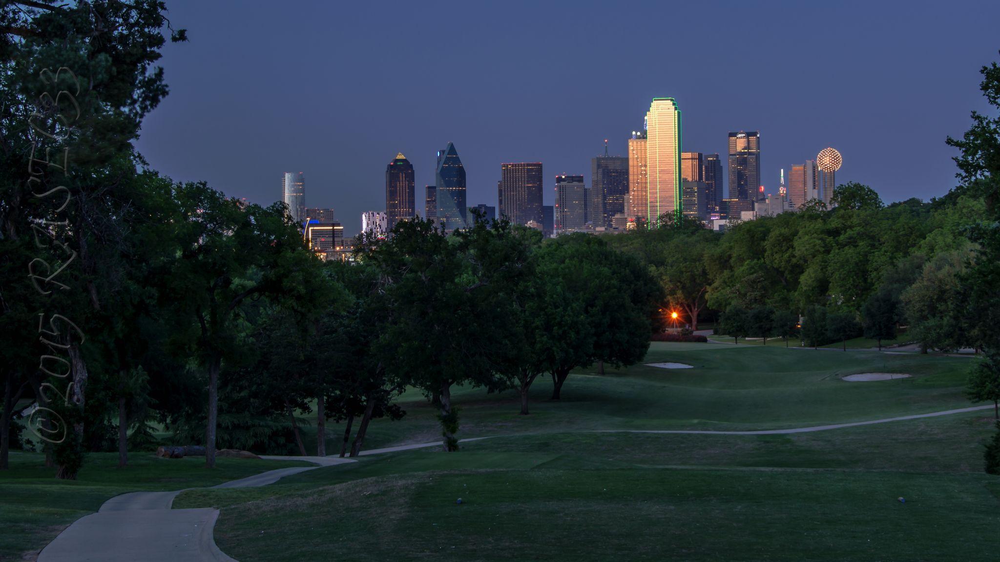 Dallas viewed from Kessler Park, USA
