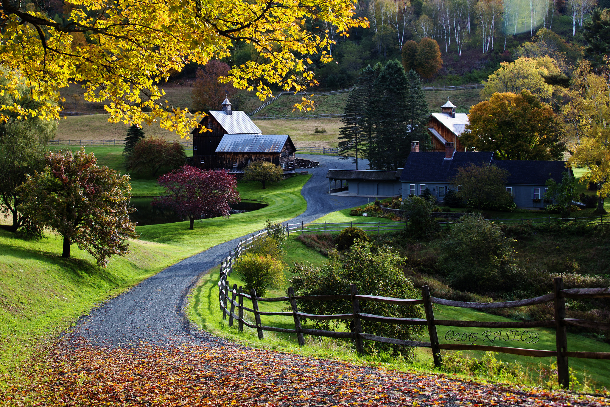 Farmhouse in Sleepy Hollow, Woodstock Vermont, USA