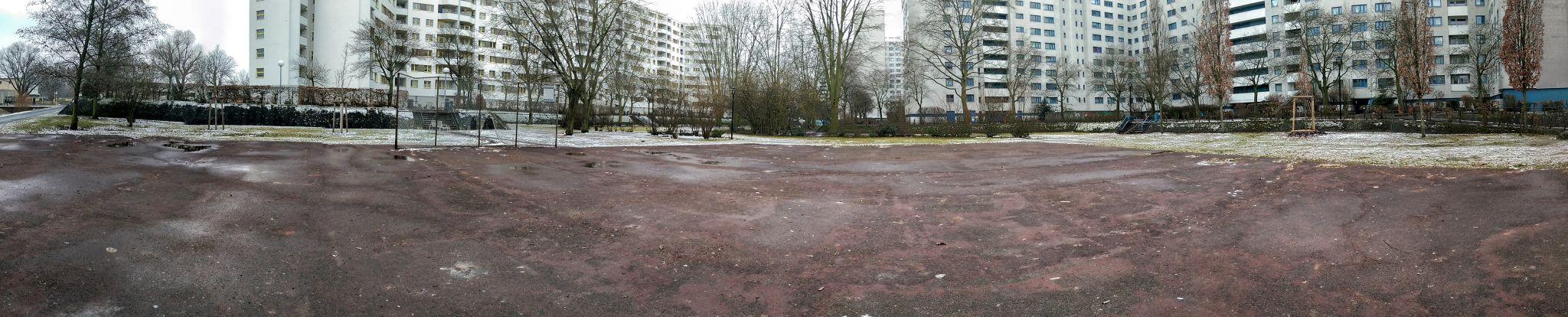 Fußballplatz im MV, Germany