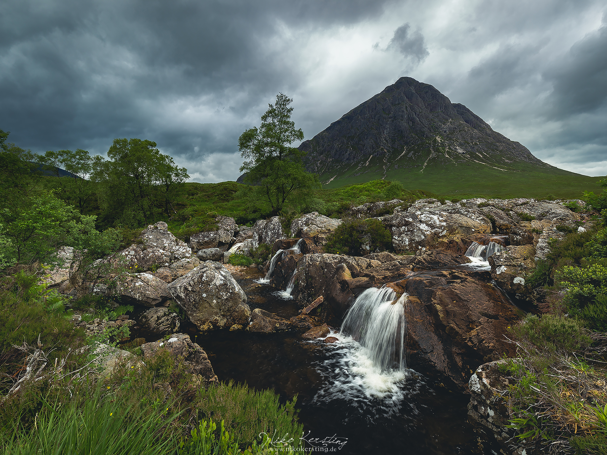 Buachaille Etive Mòr Waterfalls, United Kingdom