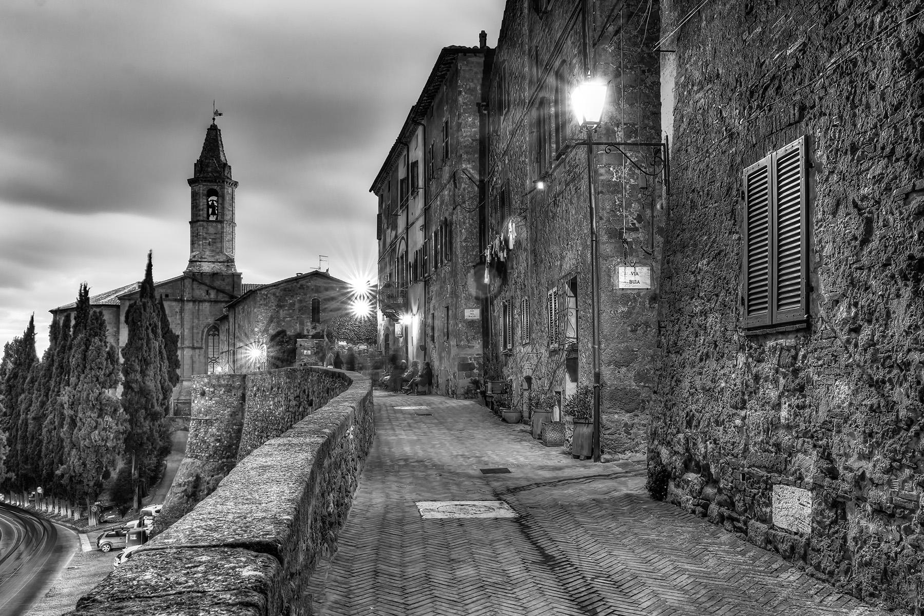 Cattedrale di Santa Maria Assunta at night; Pienza, Italy