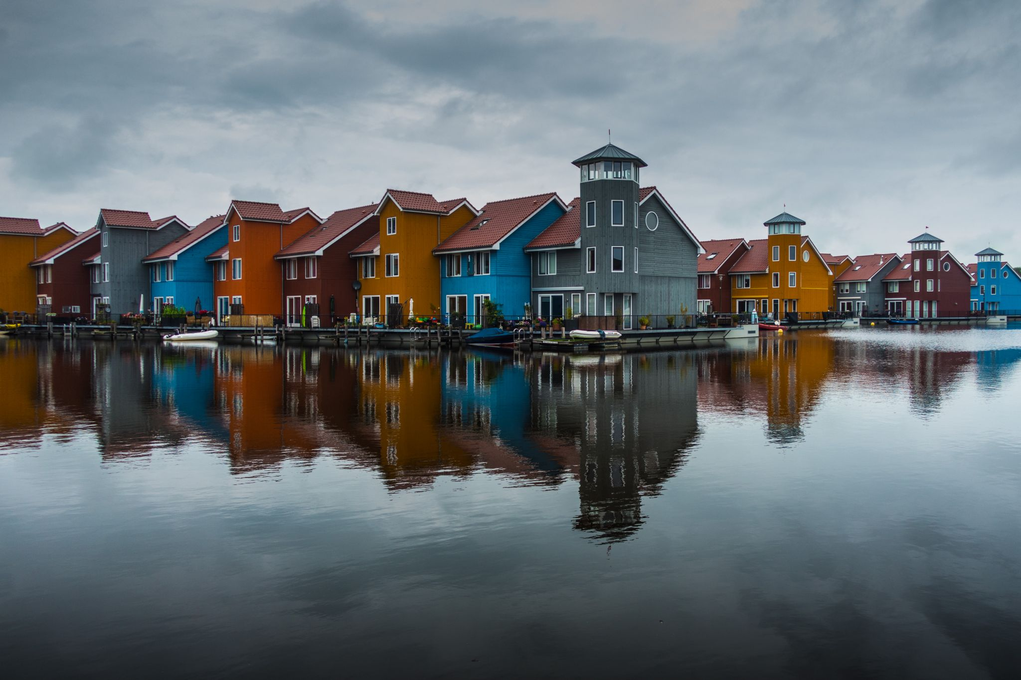 Colorful houses in Groningen, The Netherlands, Netherlands