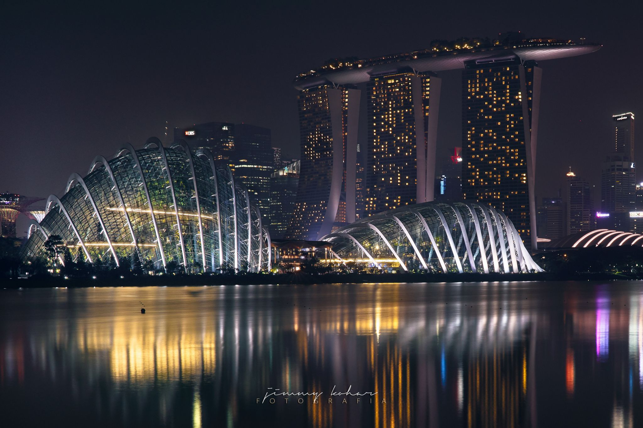Flower Dome Singapore from Marina East, Singapore