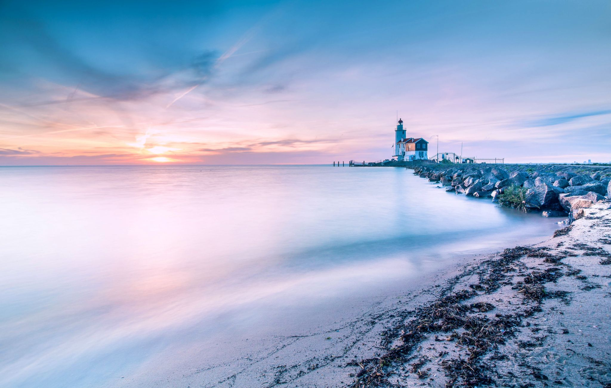 Lighthouse at Marken, Netherlands
