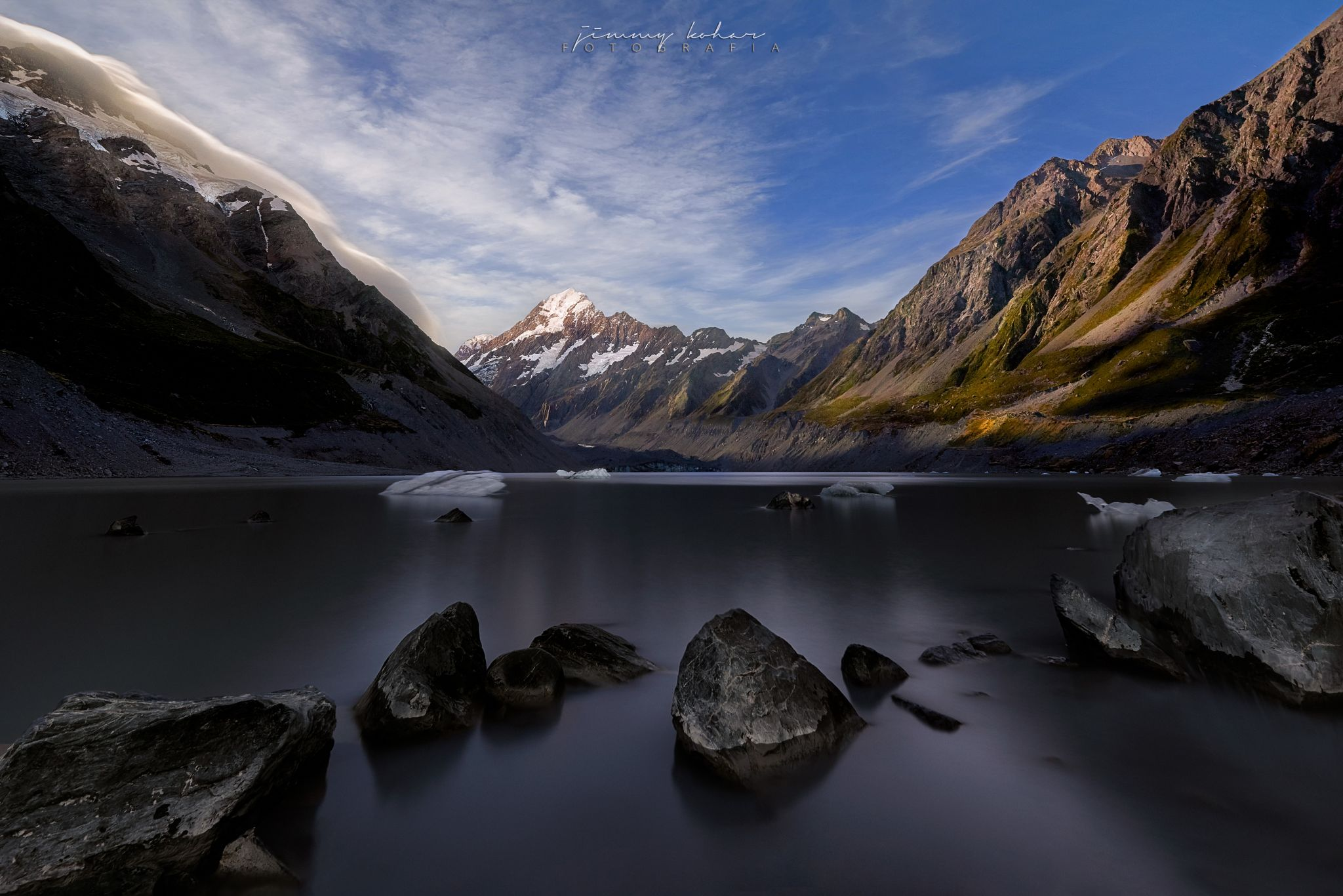 Mt. Cook from Hooker Lake, New Zealand
