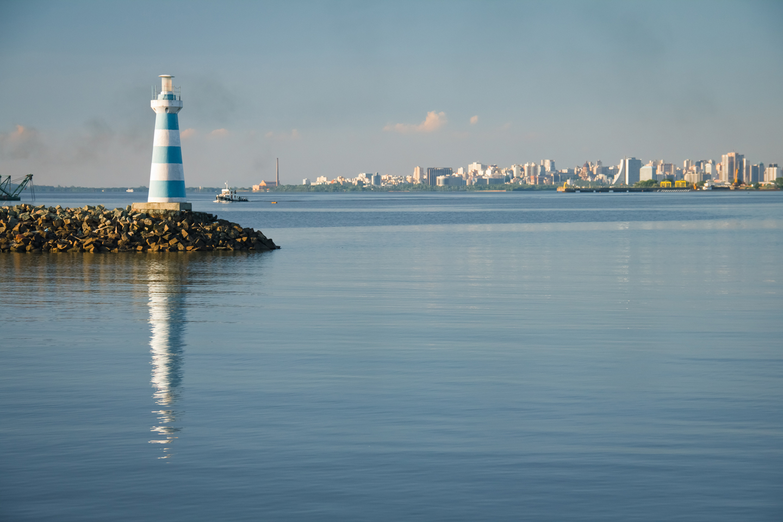 Porto Alegre and lighthouse, Brazil