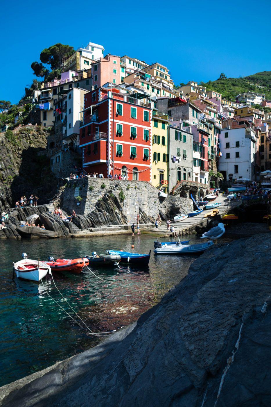 Small port of Riomaggiore, Italie, Italy
