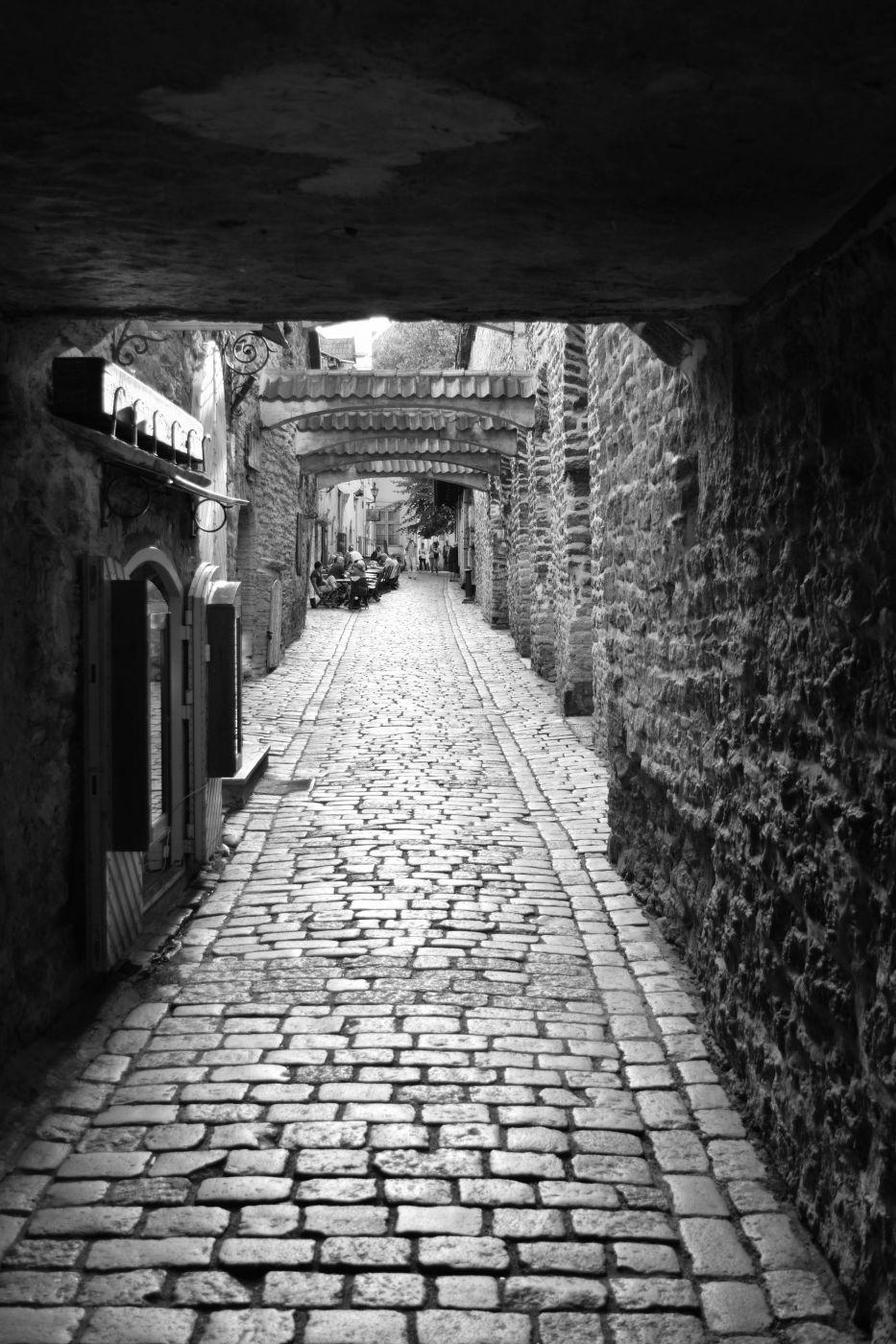 St Catherine's passage, old town of Tallinn, Estonia