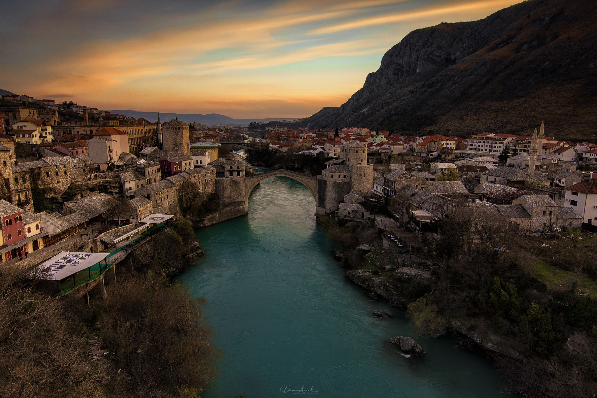 Stari Most from above, Bosnia and Herzegovina