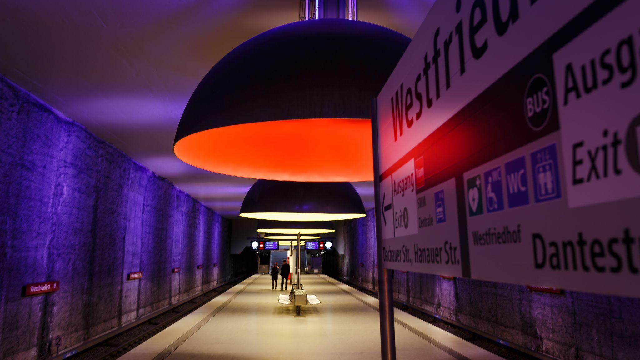 Subway station Westfriedhof, Germany