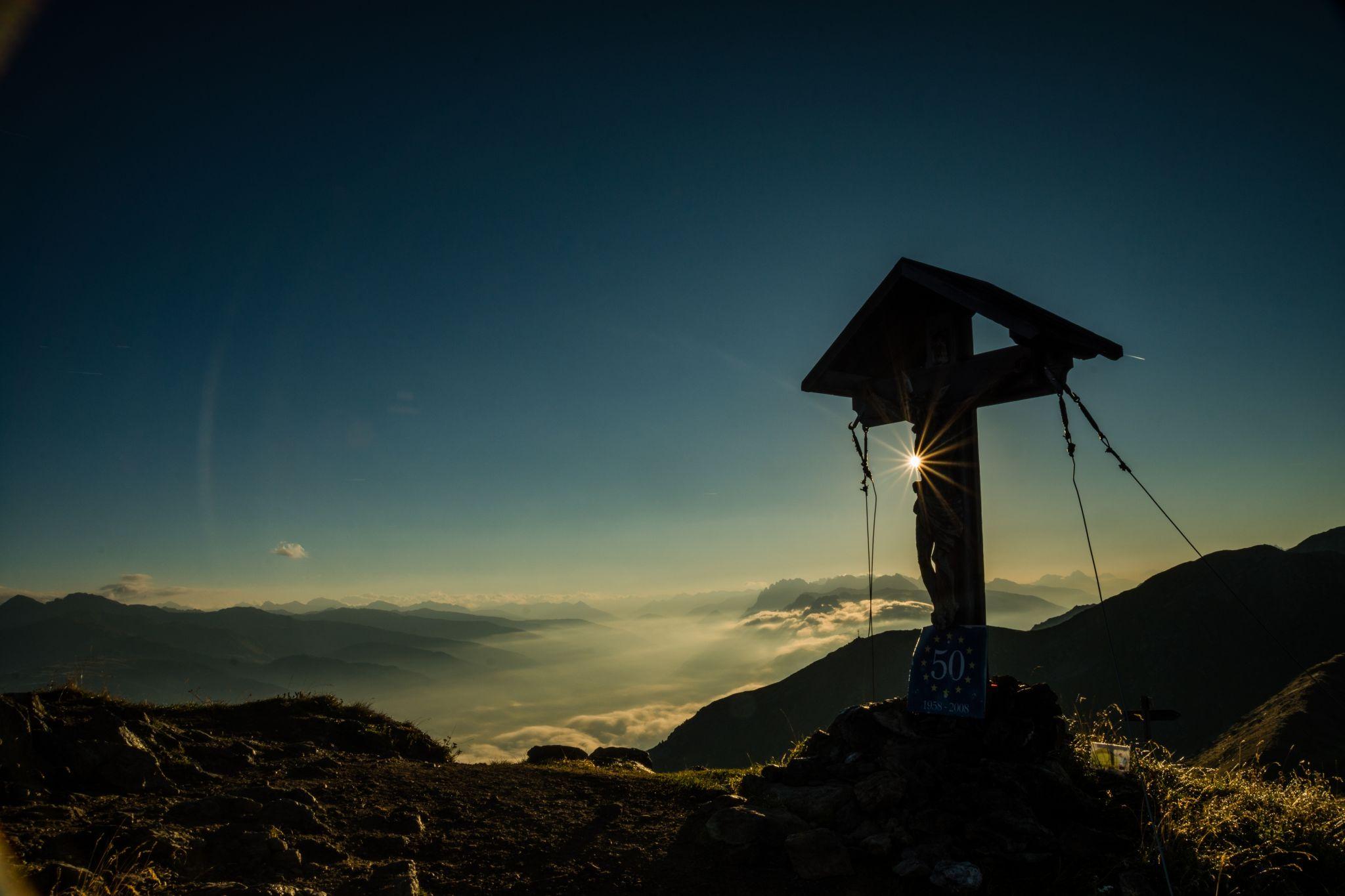 sunrise in the dolomiten italy, Austria