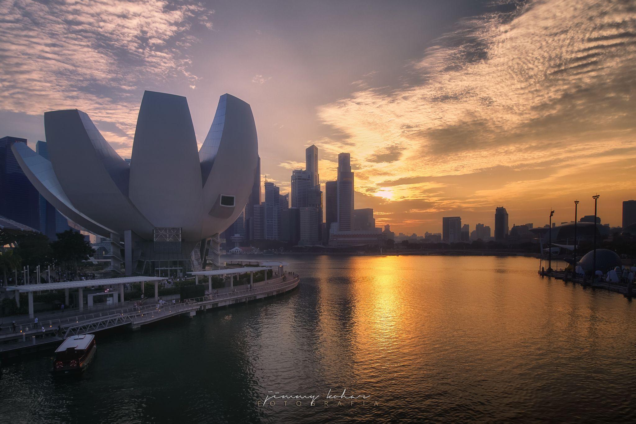 Sunset from the Helix Bridge, Singapore