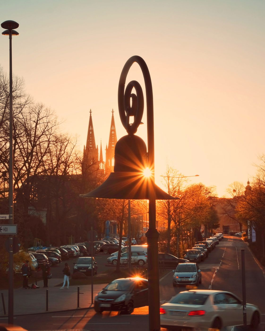 Sunset through the Lamp, Germany