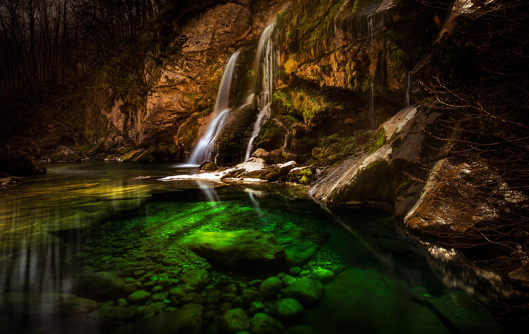 Virje waterfall, Slovenia