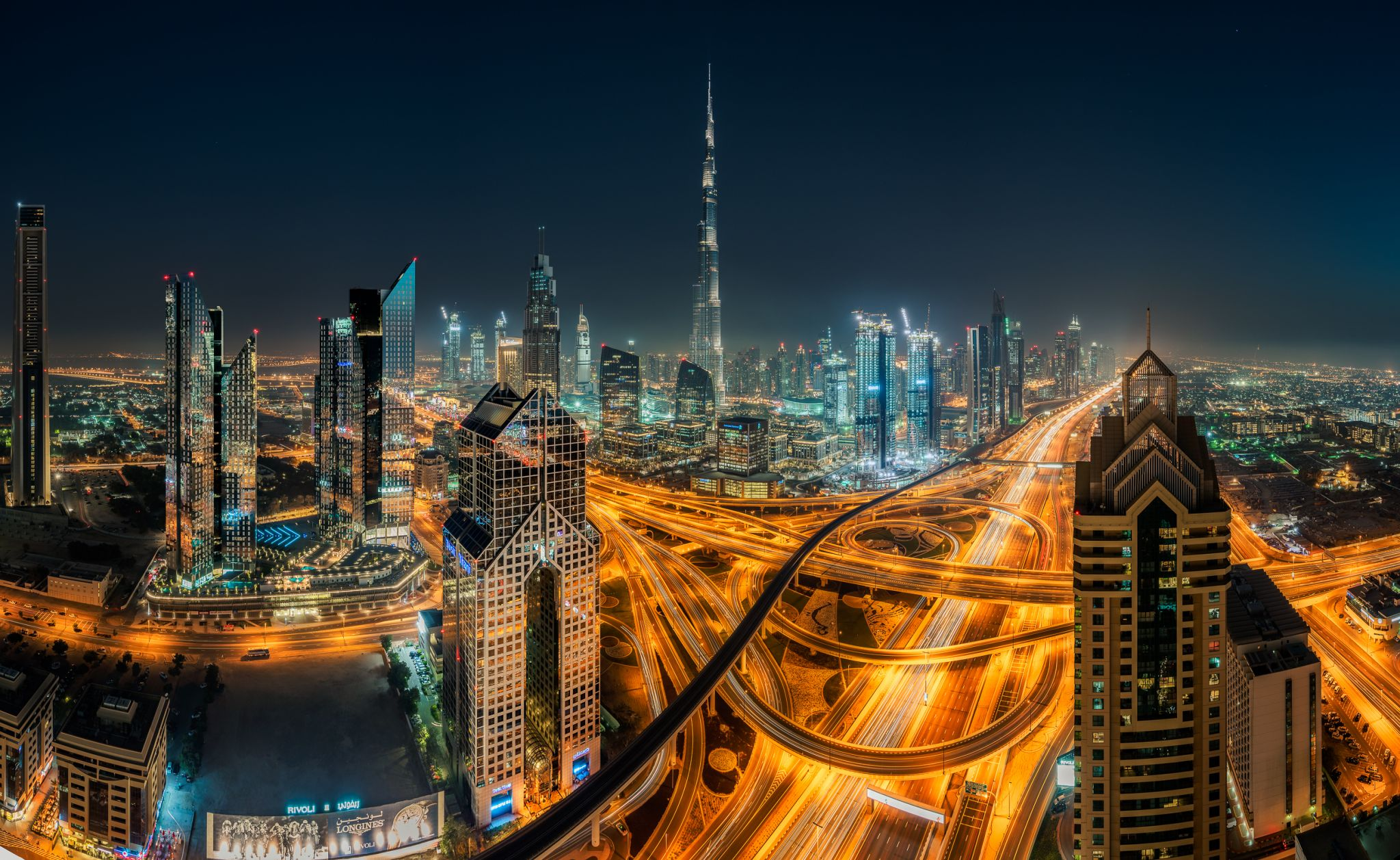 Burj Khalifa view from Shangri-La, United Arab Emirates