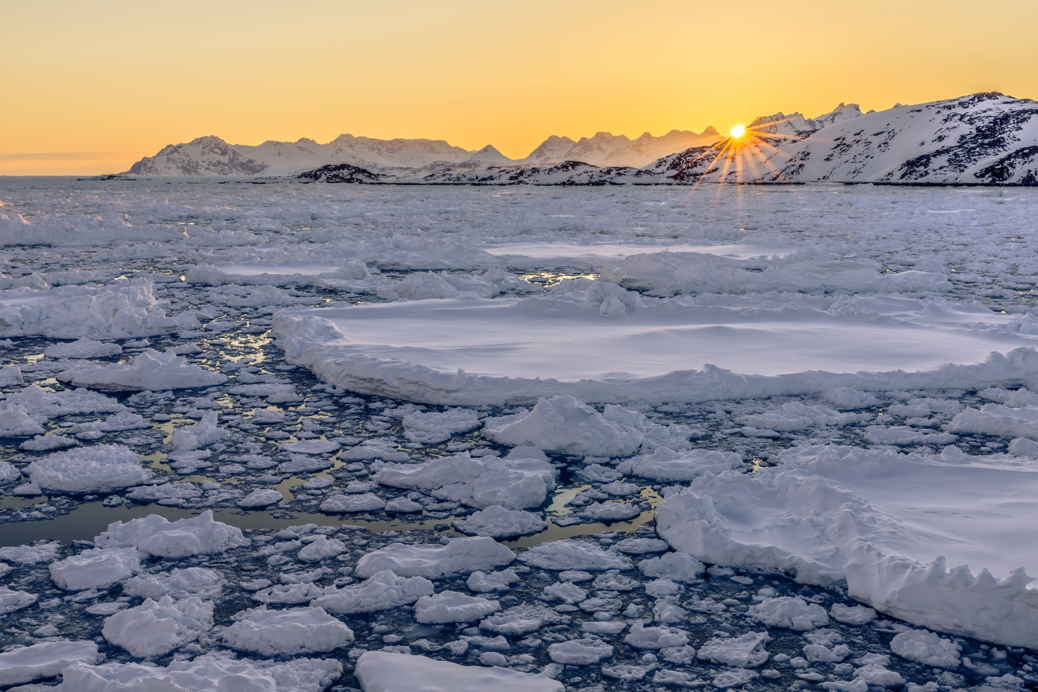 Pack ice in Kulusuk Bay, Greenland, Greenland
