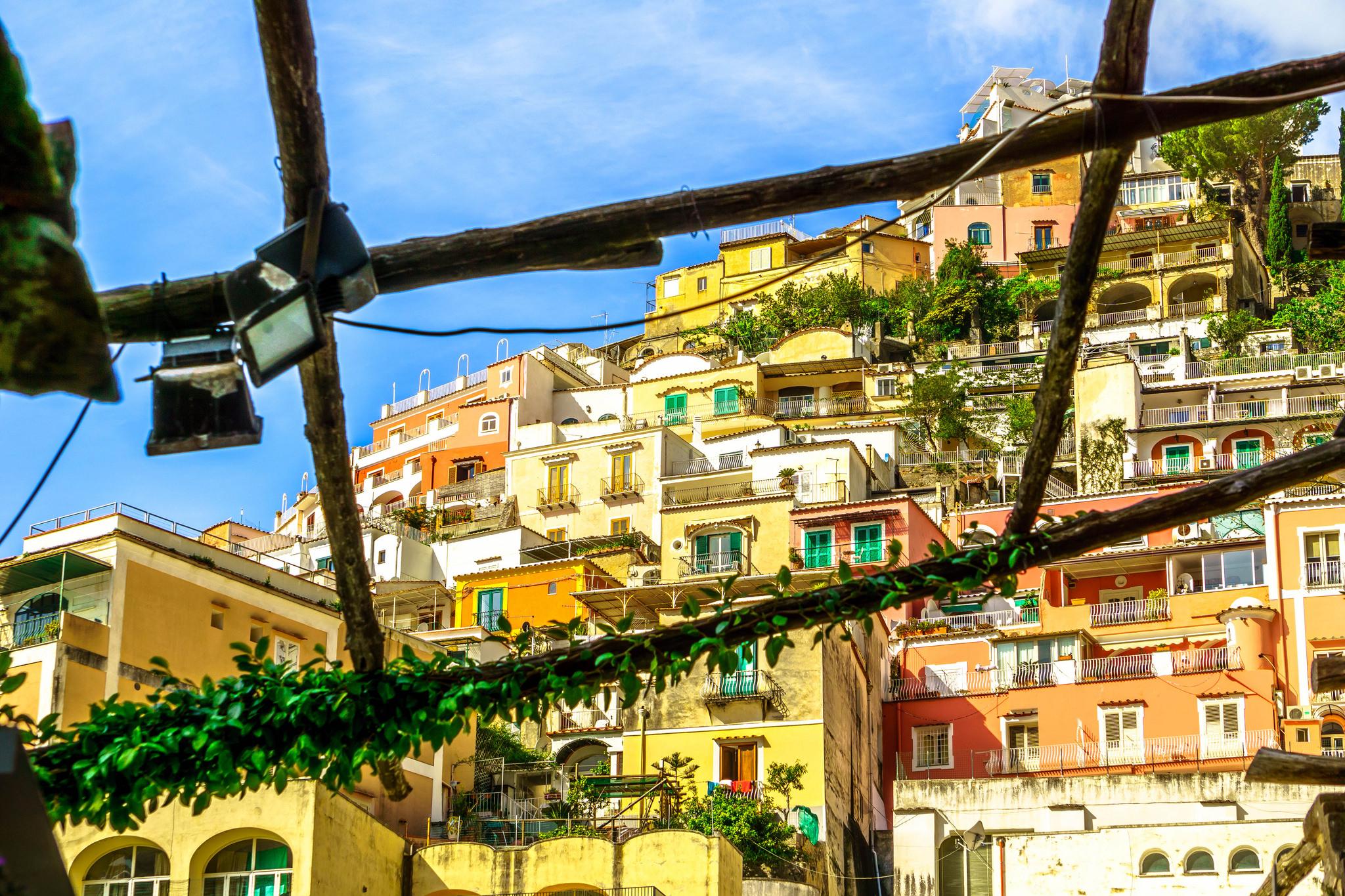 Positano Mid-way down the main drag, Italy