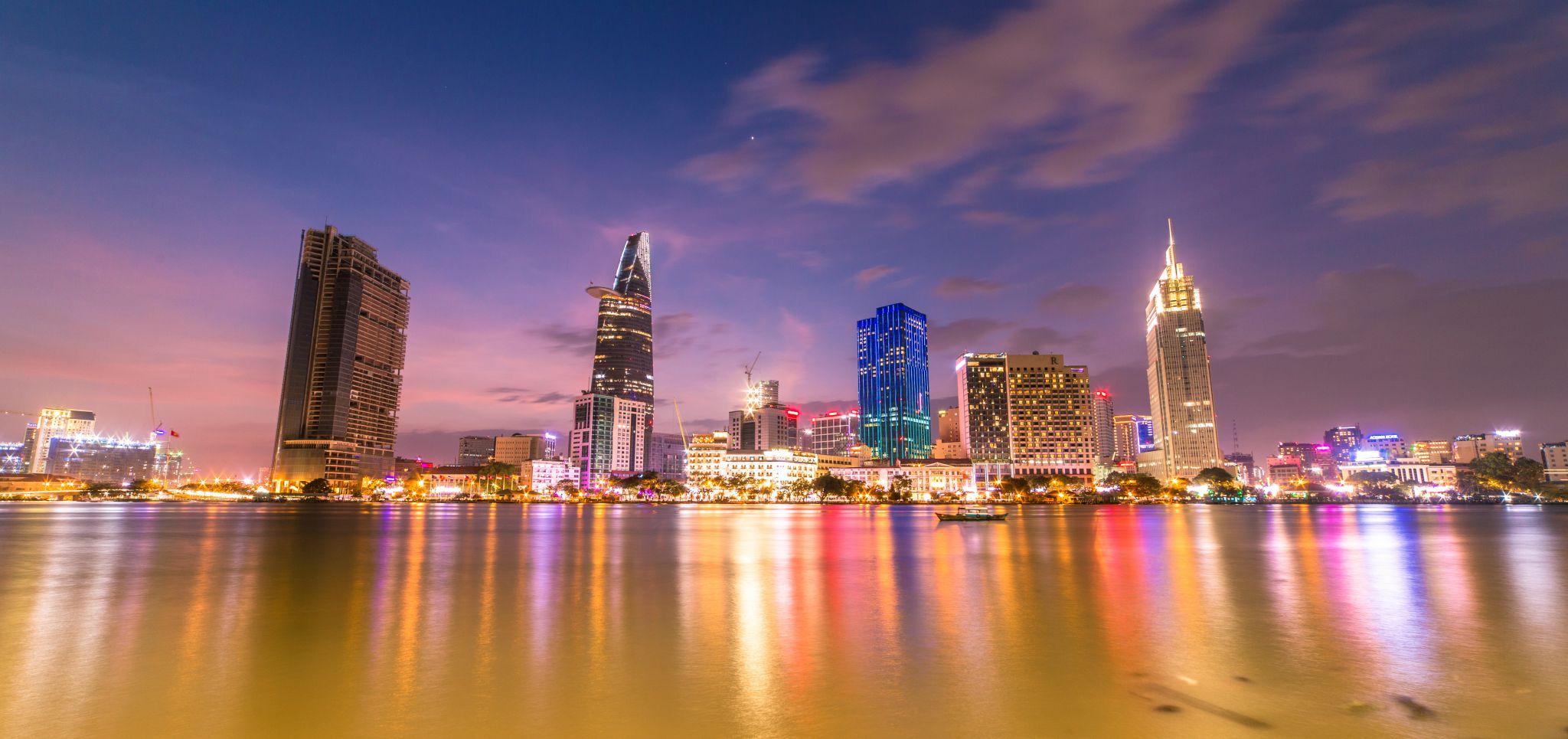 Skyline of Saigon, Vietnam