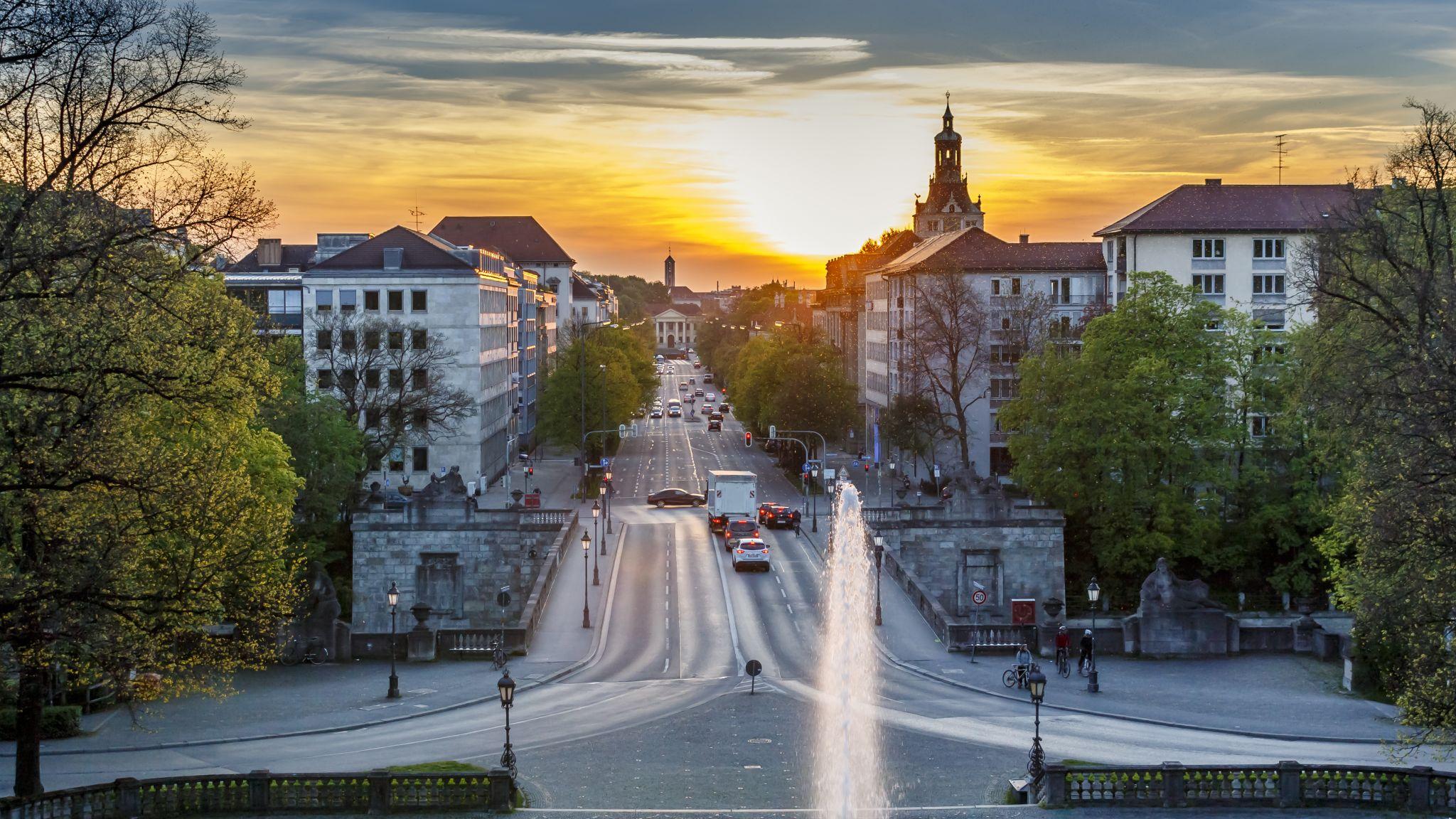 Sunset In Munich (Friedensengel), Germany