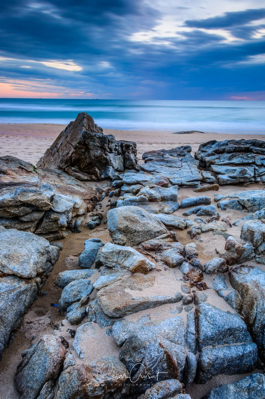 Sunset with rocks formation, Spain