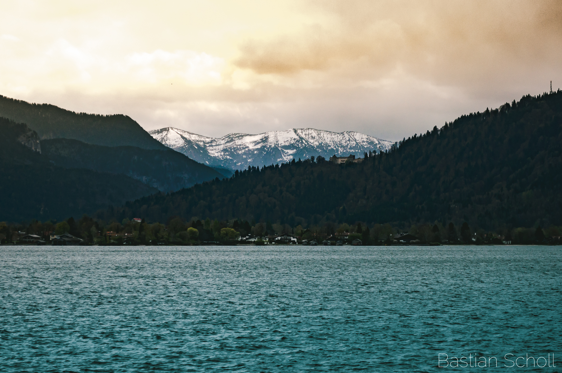 View over Lake Tegernsee, Germany