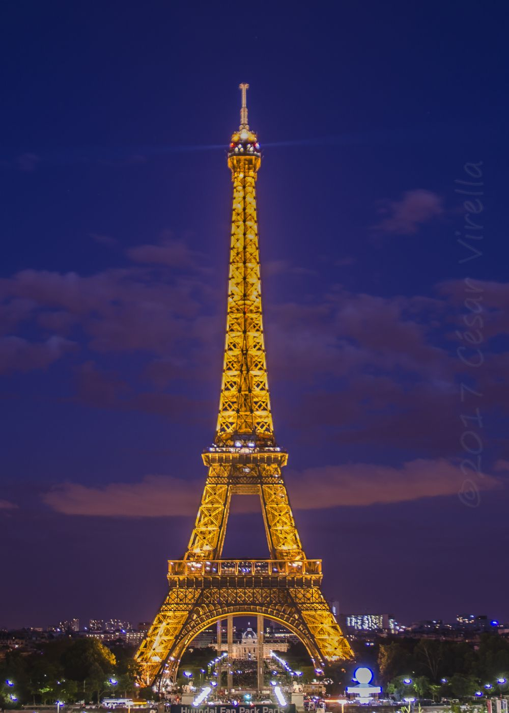 Eiffel Tower from Trocadero, France