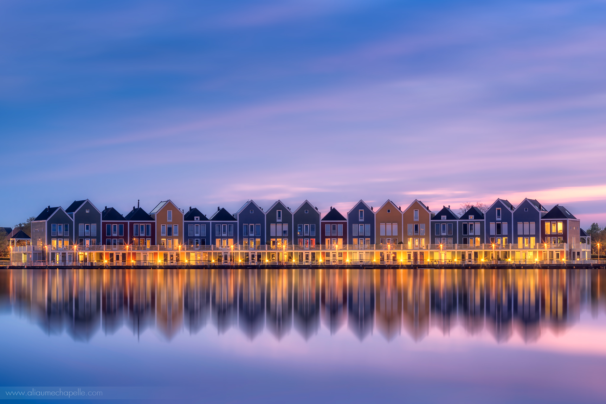 Houten rainbow houses, Netherlands