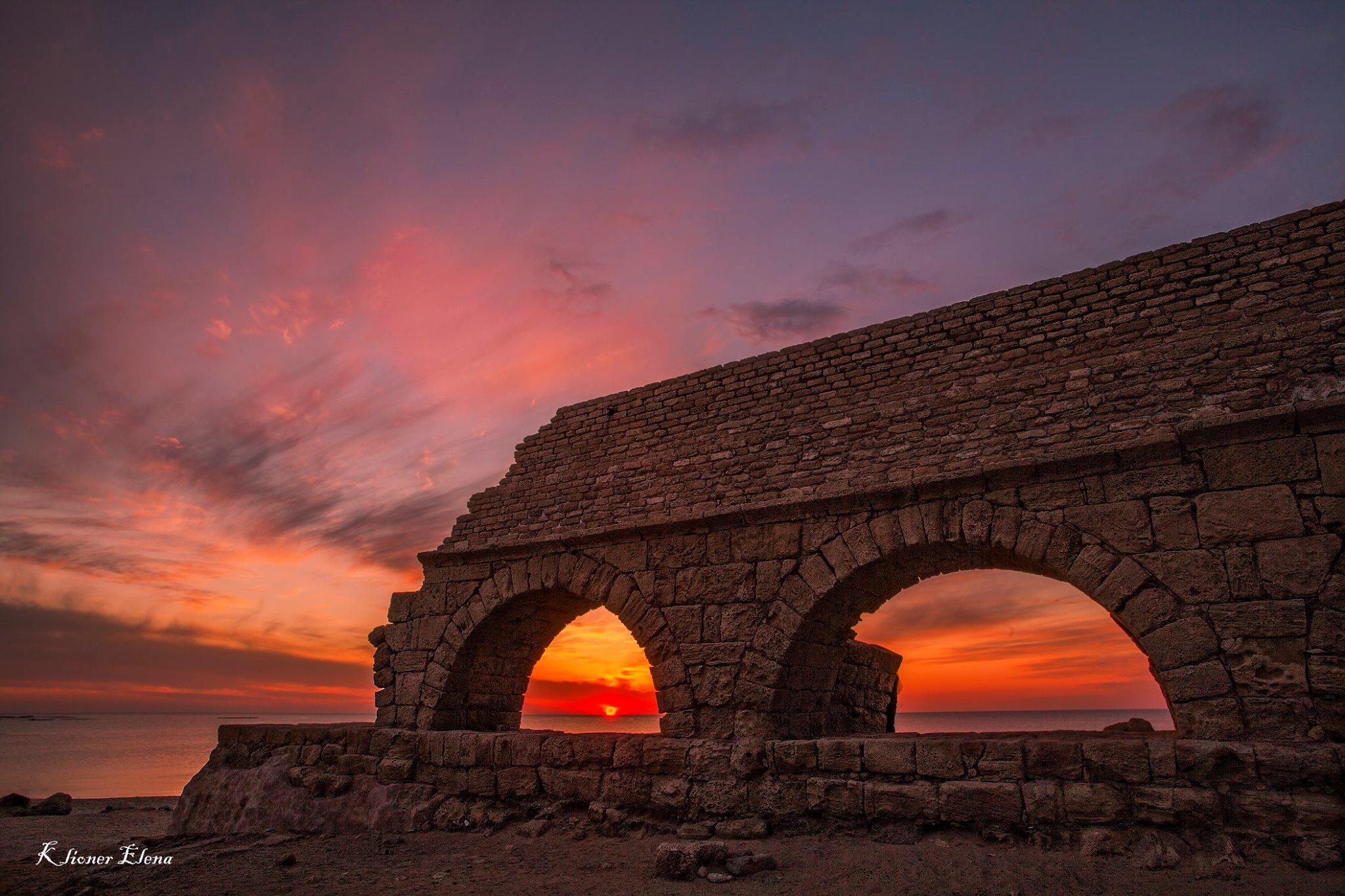 aqueduct Caesarea, Israel
