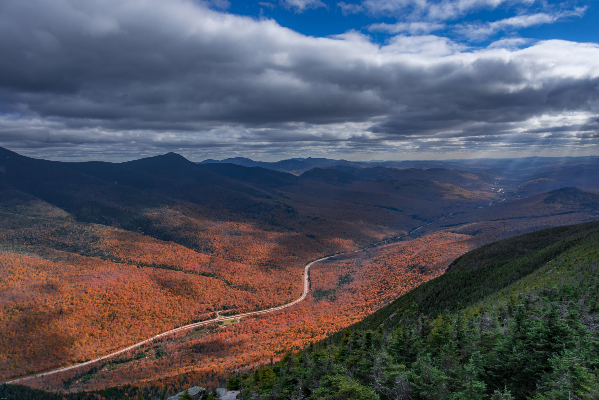 Canon Mountain New Hampshire View, USA