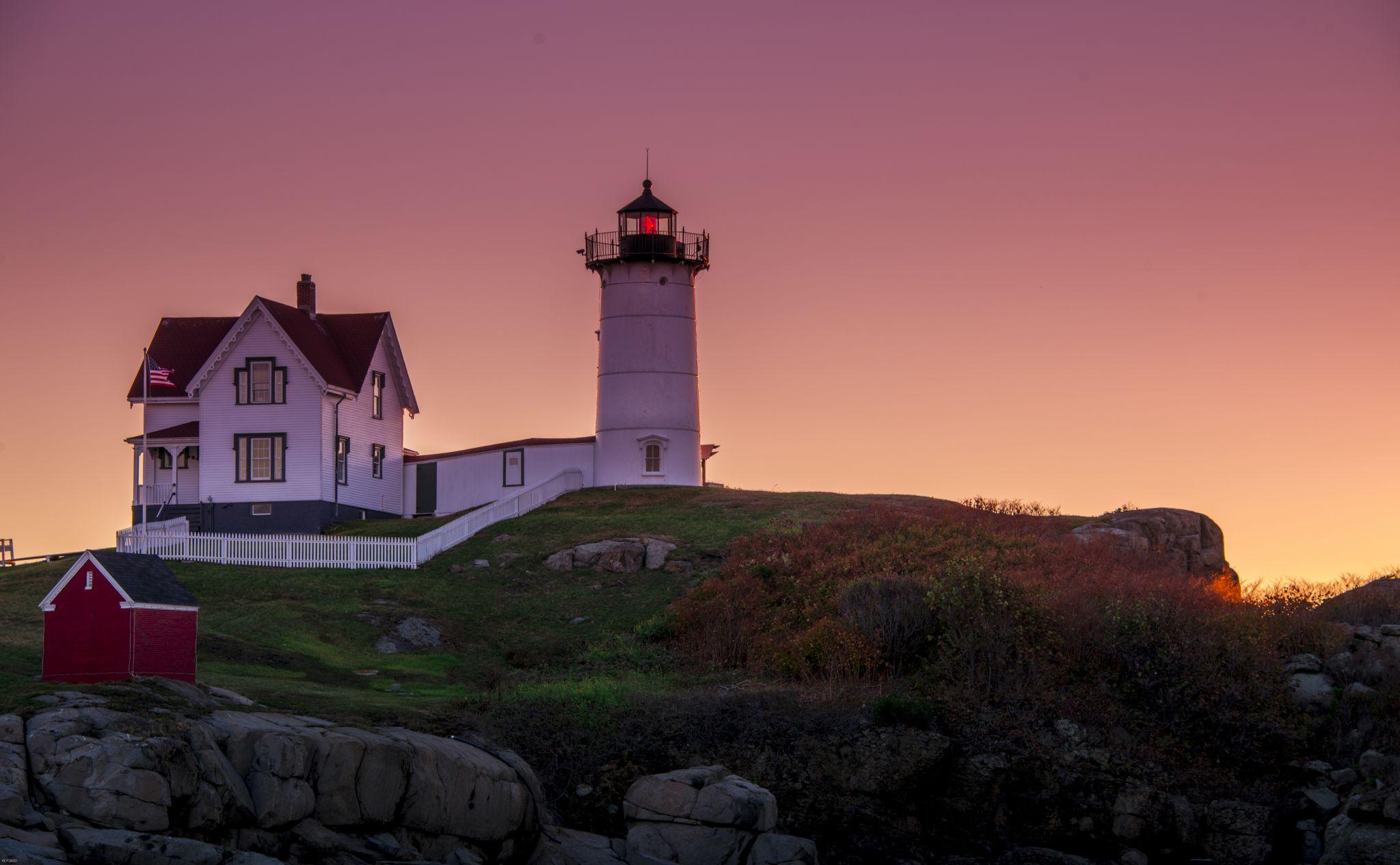 Cape Neddick Lighthouse - Nubble Island, USA