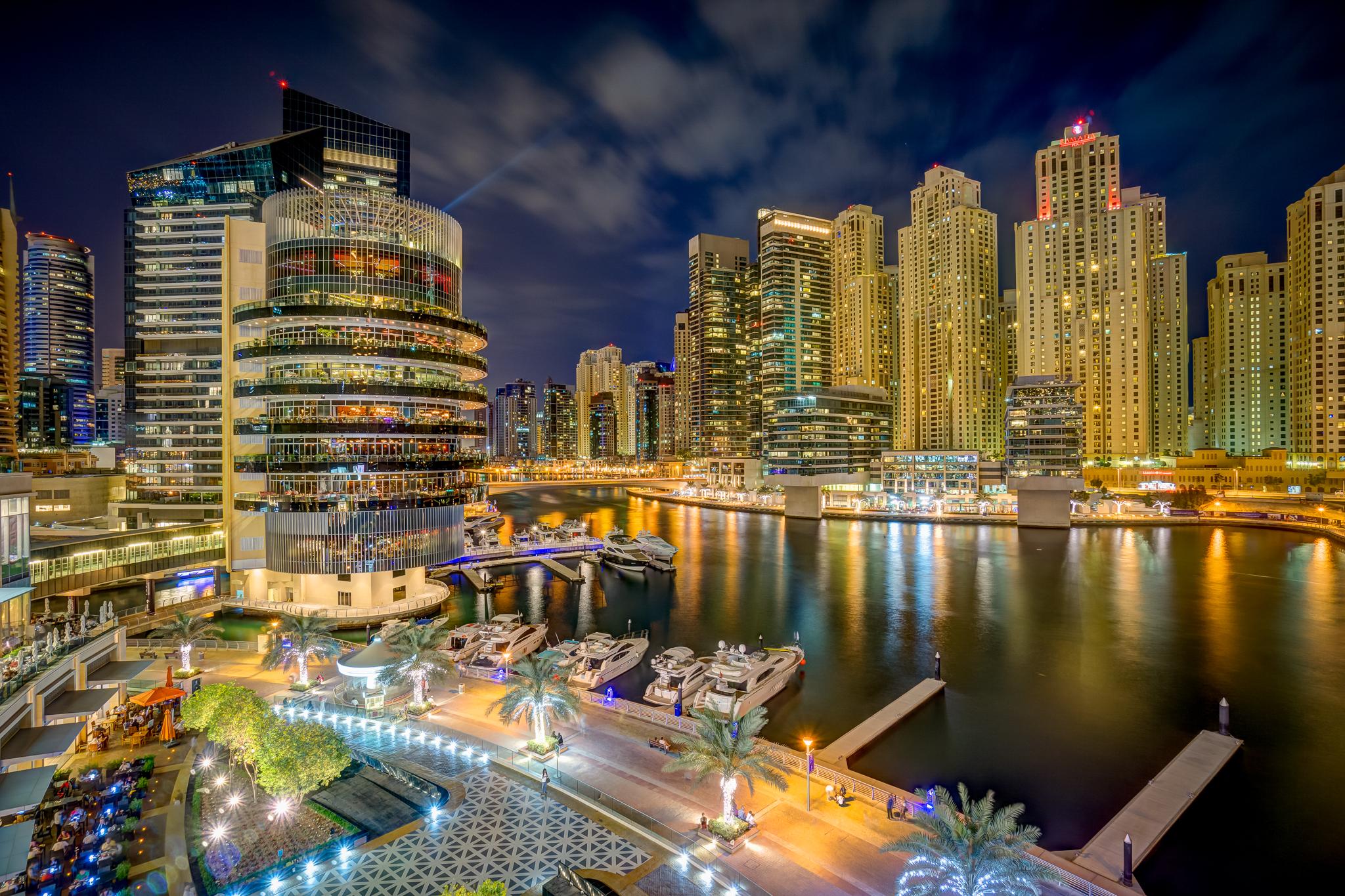 Dubai Marina from Dubai Marina Mall, United Arab Emirates