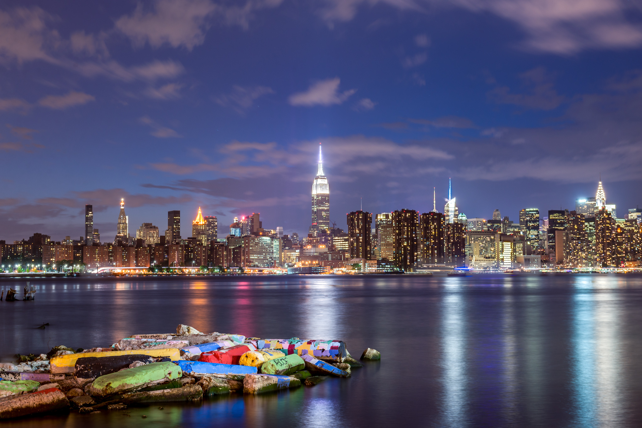East River State Park - View towards Manhattan, USA