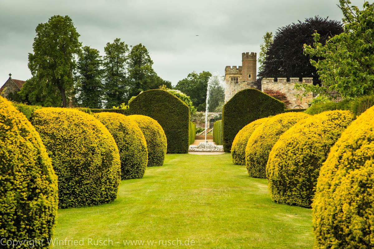 Garten von Penshurst Place, United Kingdom
