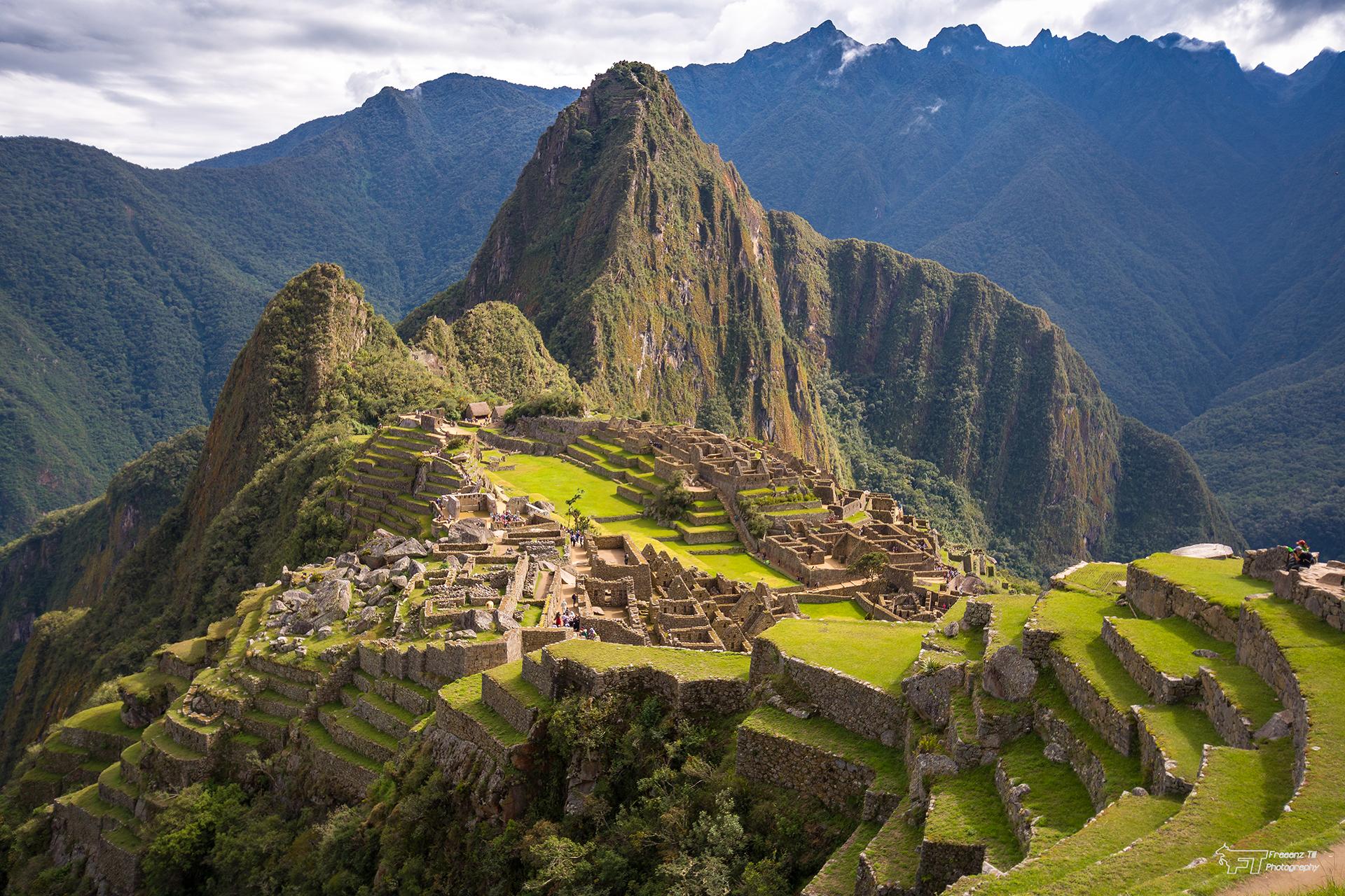Machu Picchu - Western terraces view, Peru