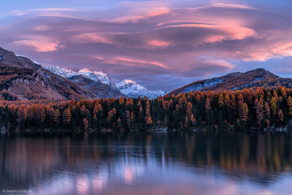 Mountain lake in Engadin, Switzerland