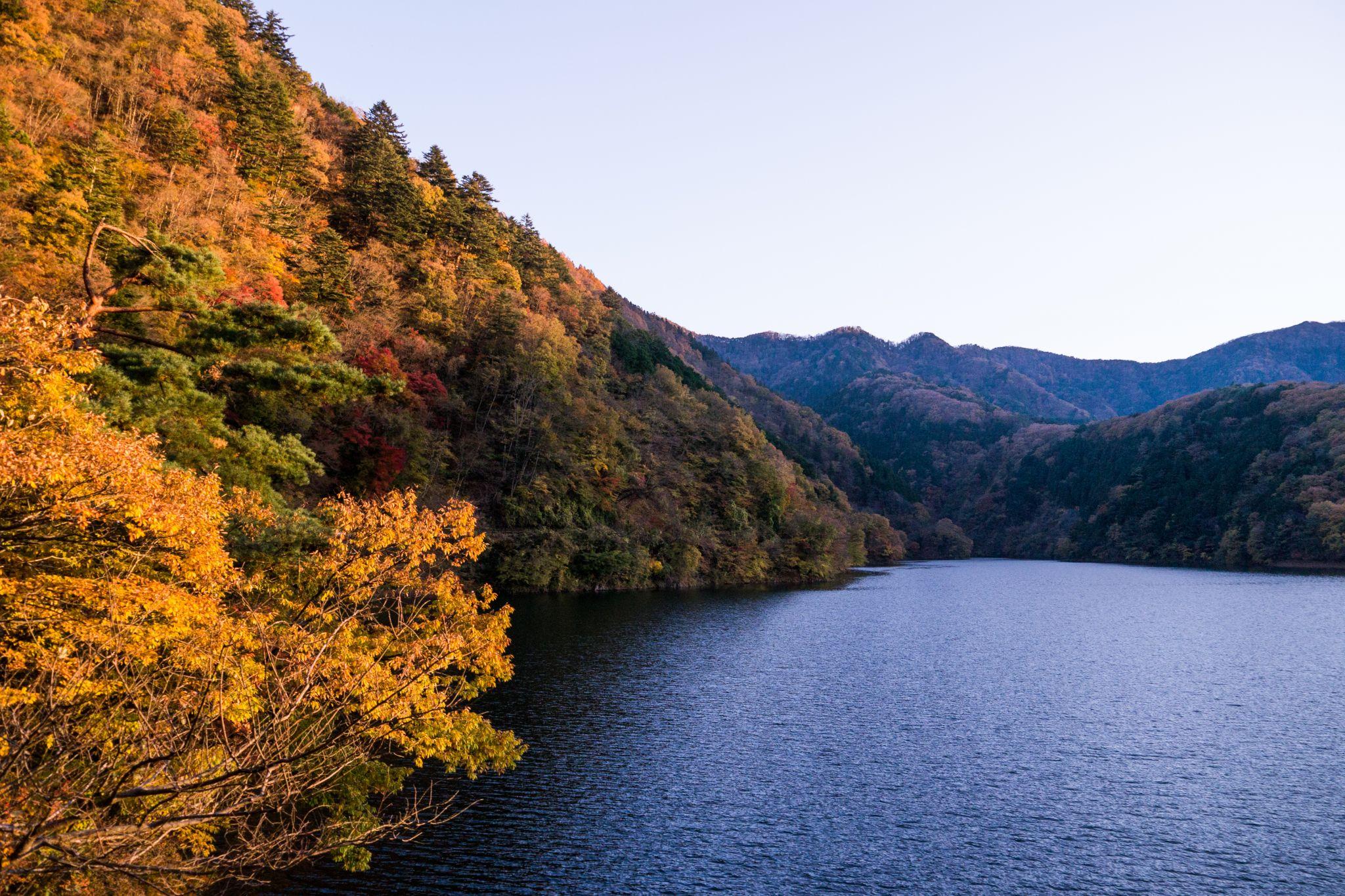 Okutama lake, Japan