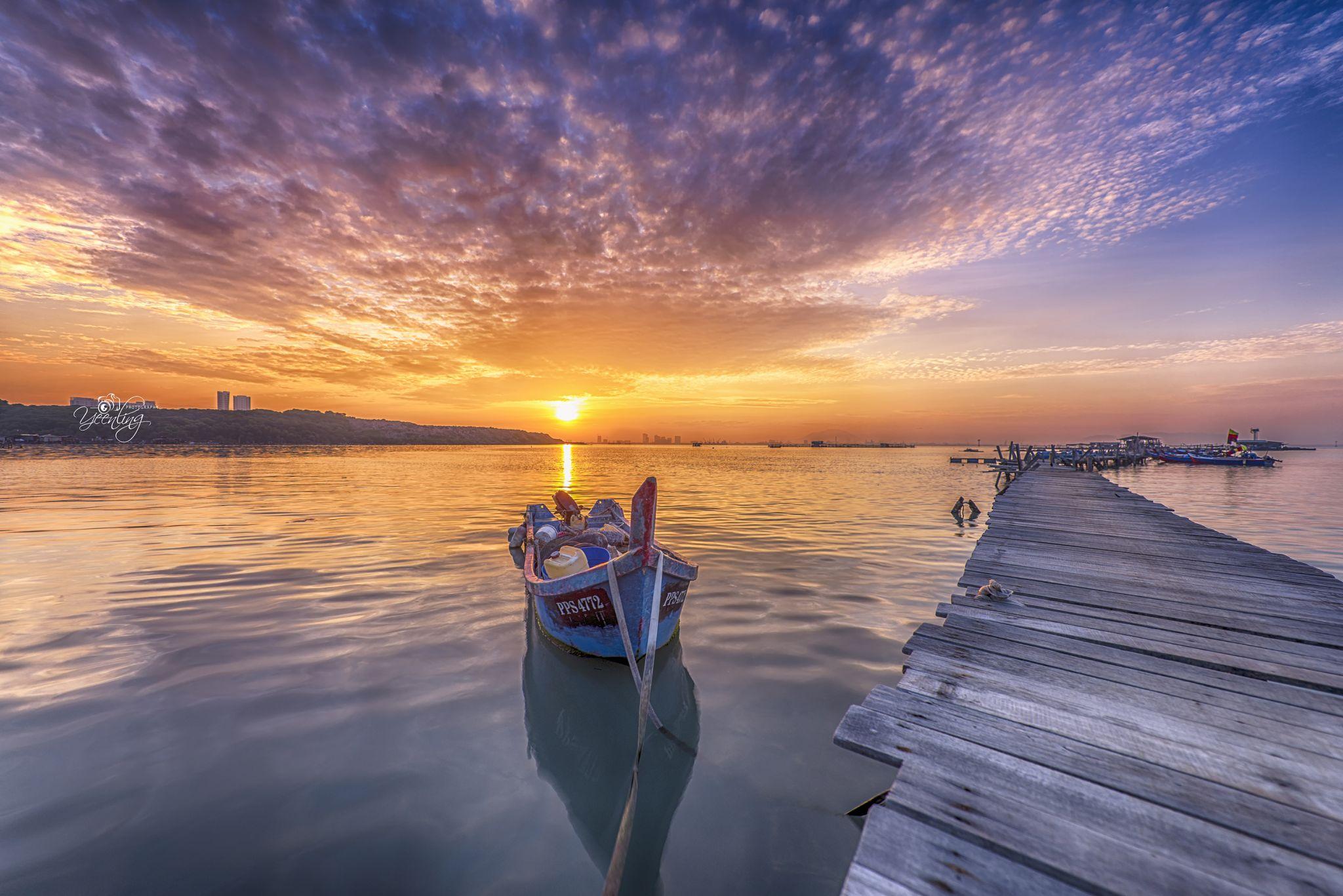 Sunrise over Dove Jetty, Malaysia