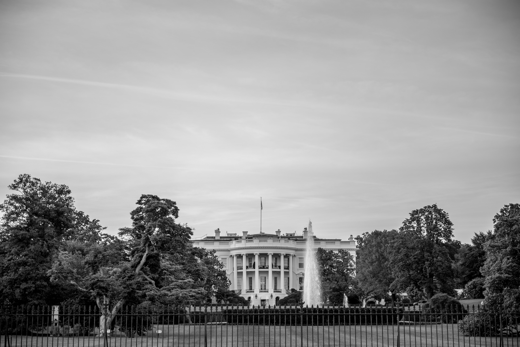 The back of the White House, USA