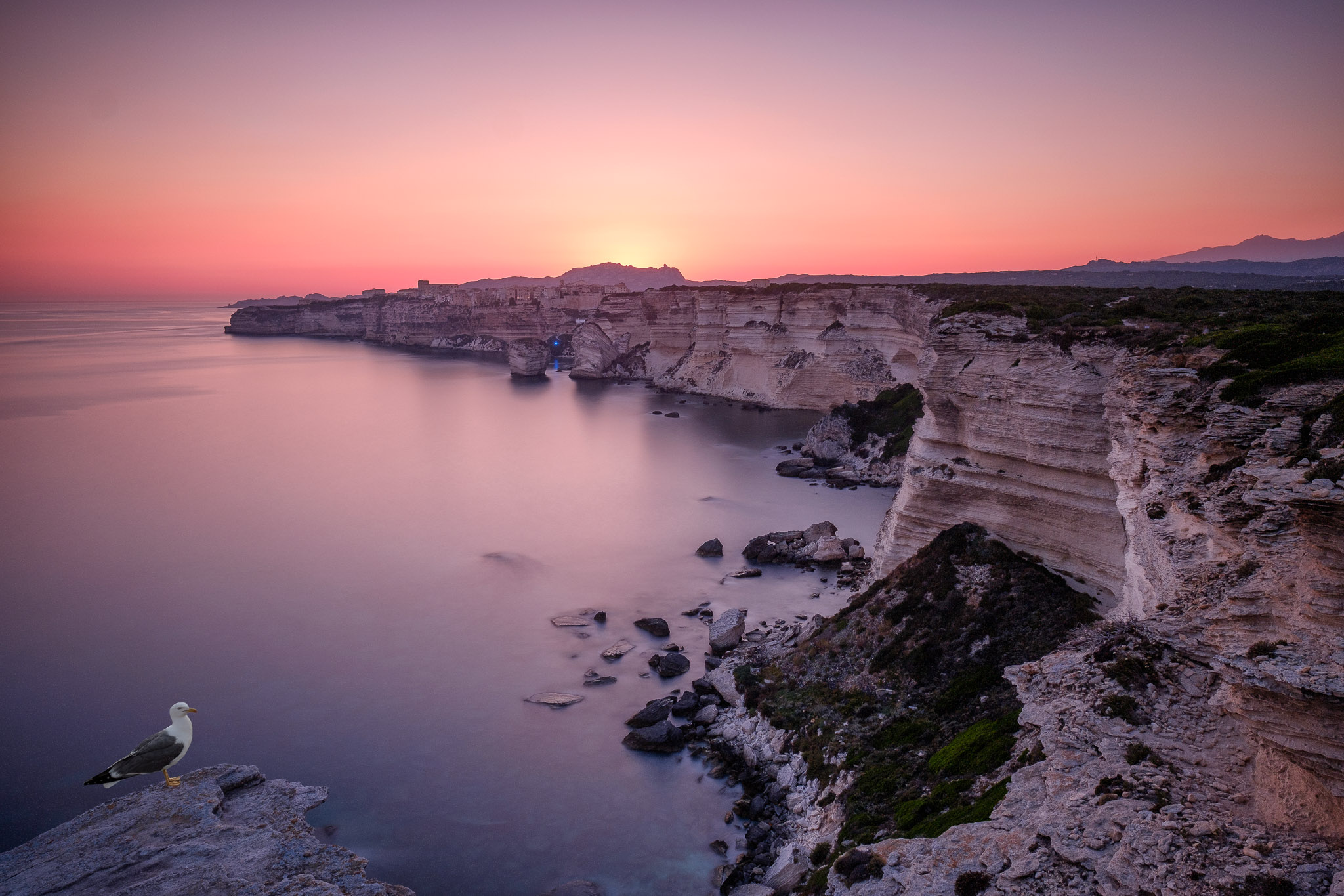The cliff of Bonifacio, France