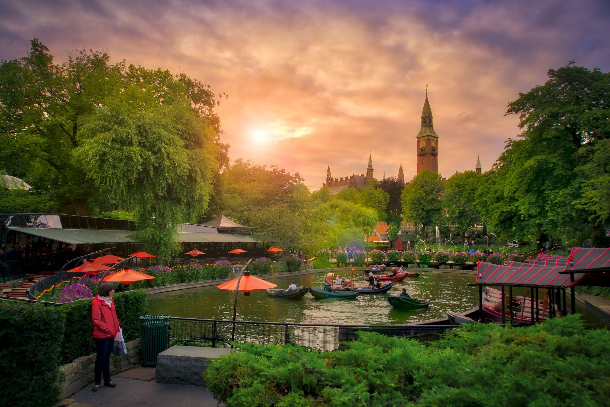 Tivoli Garden Sunset, Denmark