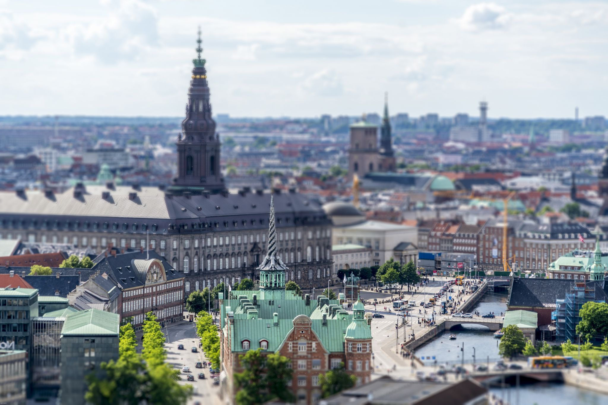 View of Christianborg from Church of Our Savior, Denmark