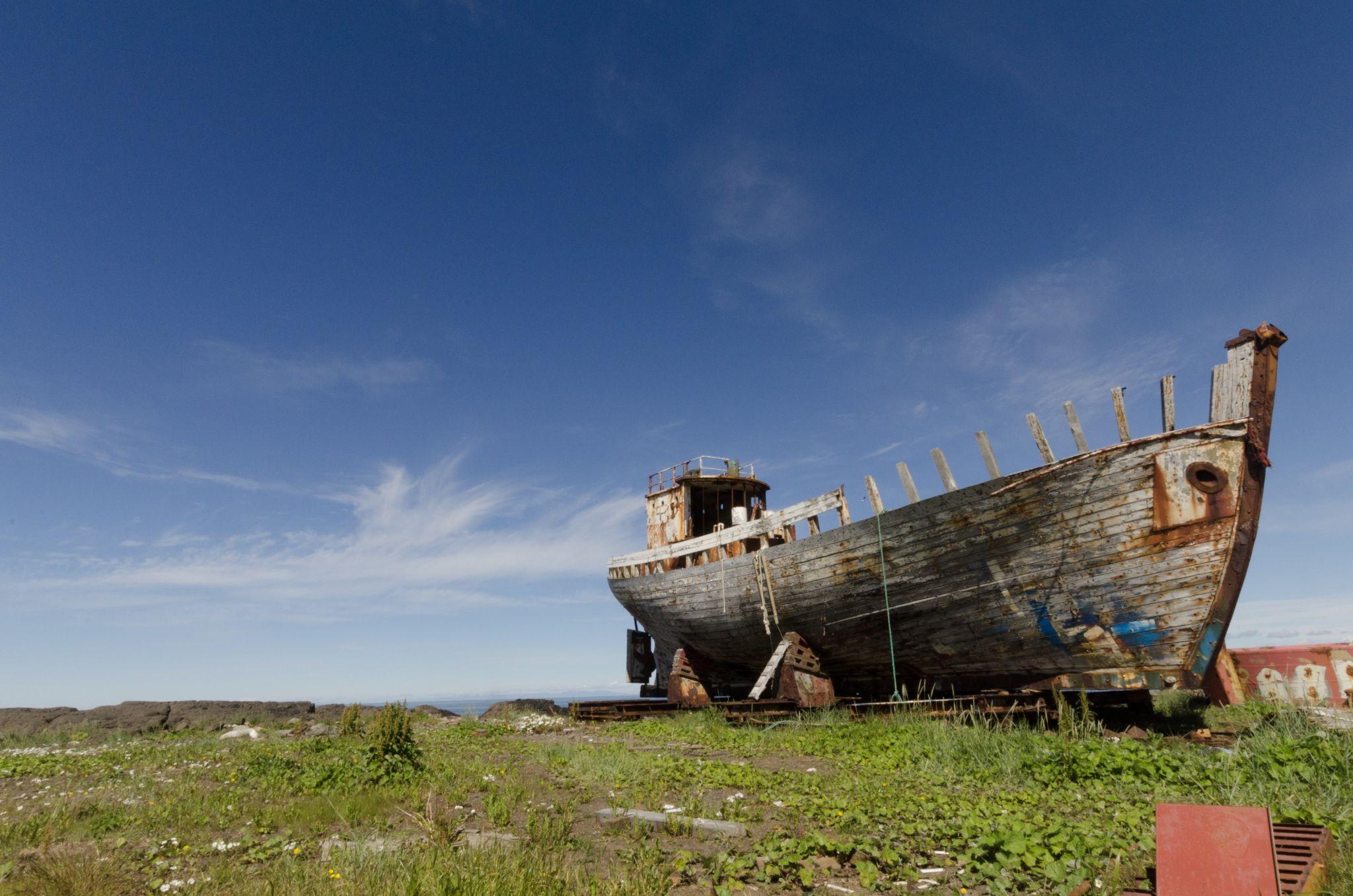 Abandoned ship Akranes, Iceland