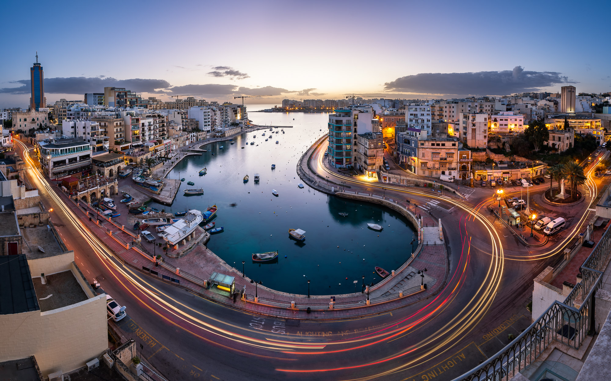 Aerial View on Saint Julian and Spinola Bay, Malta