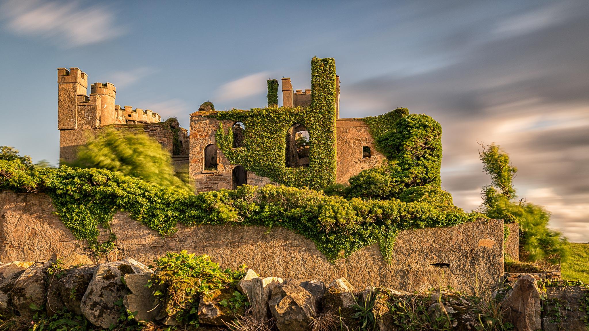 Back side of Clifden castle, Ireland