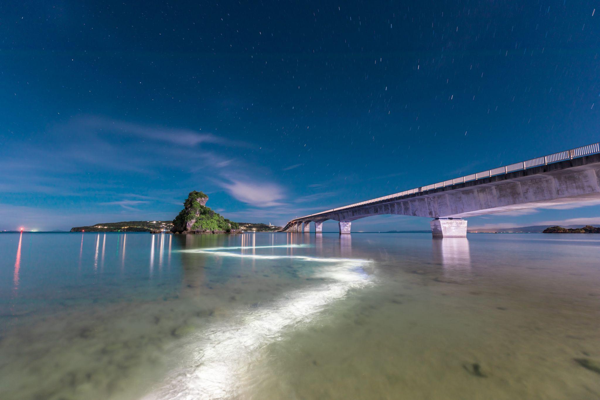 Bridge to Kouri Island, Japan