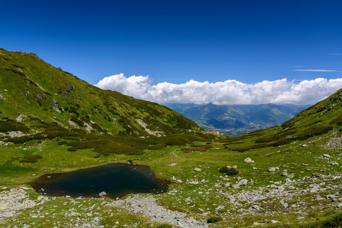 Iezer lake at Pietrosu Rodnei, Romania