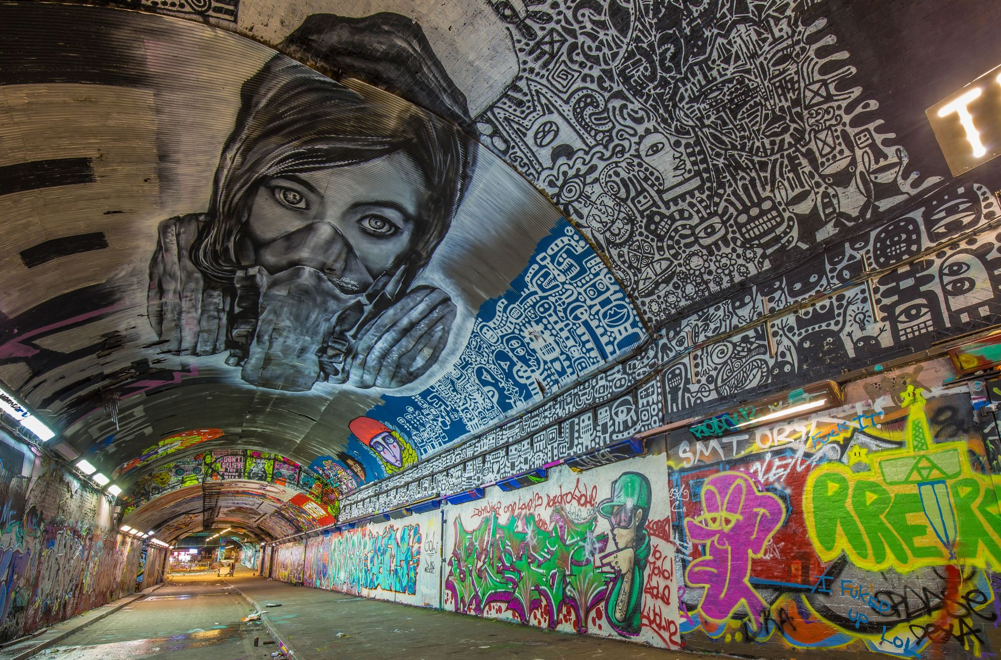 Leake Street Graffiti Tunnel, United Kingdom