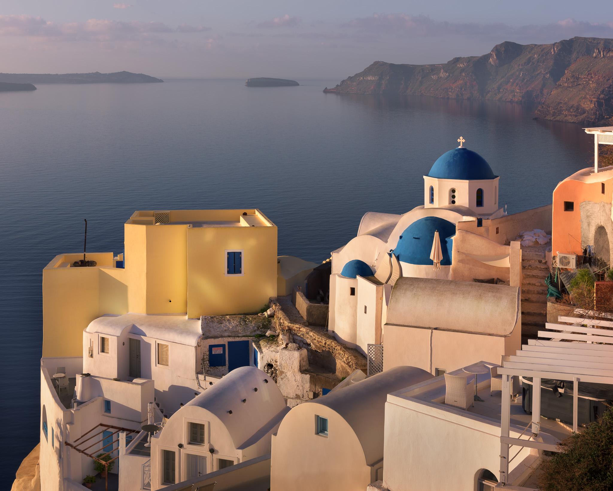 Oia Village in the Morning, Santorini, Greece, Greece